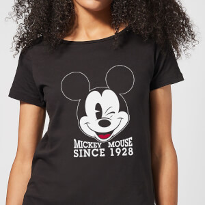 Disney Mickey Mouse Since 1928 Women's T-Shirt - Black