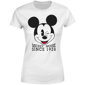 Disney Mickey Mouse Since 1928 Women's T-Shirt - White