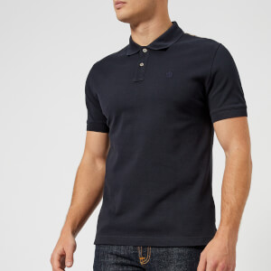 Aquascutum Men's Hill CC Pique Short Sleeve Polo Shirt - Navy
