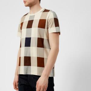 Aquascutum Men's Kenneth Large CC Printed T-Shirt - Vicuna