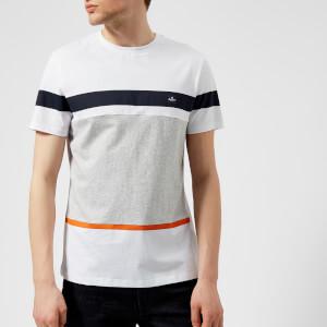 Aquascutum Men's Roeburn Block Colour Stripe T-Shirt - White