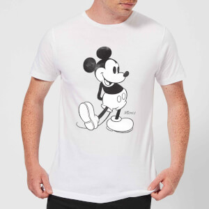 Disney Mickey Mouse Classic Kick B&W T-Shirt - Weiß