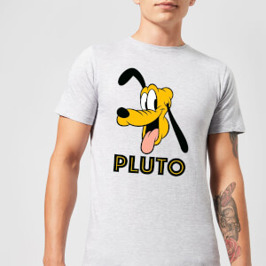 Disney Mickey Mouse Pluto Face T-Shirt - Grau
