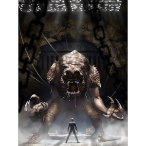 "Star Wars: Return Of The Jedi """"Rancor's Wrath"""" Lithograph By Jeremy Saliba (18""""x24"""") Zavvi UK Exclusive"