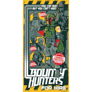 "Star Wars: Bounty Hunters for Hire Silkscreen Print By Mark Daniels (12""""x24"""") Zavvi UK Exclusive"