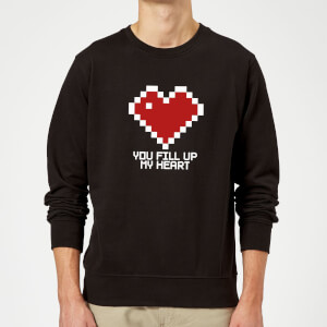 You Fill Up My Heart Pullover - Schwarz