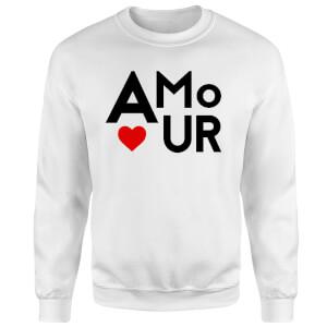 Amour Block Sweatshirt - White