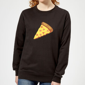 True Love Pizza Women's Sweatshirt - Black