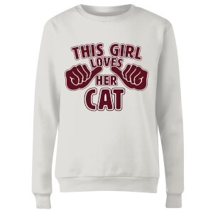 This Girl Loves Her Cat Frauen Pullover - Weiß
