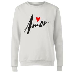 Amor Women's Sweatshirt - White