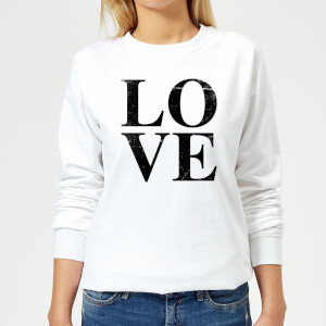 Love Textured Women's Sweatshirt - White
