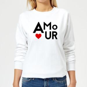 Amour Block Women's Sweatshirt - White
