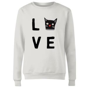 Cat Love Frauen Pullover - Weiß