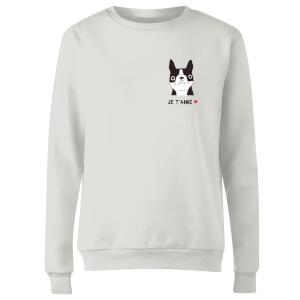 Je'Taime Women's Sweatshirt - White