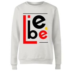 Liebe Block Women's Sweatshirt - White
