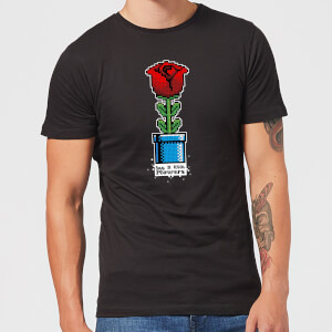 Say It With Flowers T-Shirt - Black