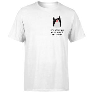Je Passerais Mes 9 Vies à Tes Côtés T-Shirt - White