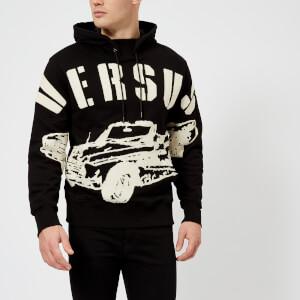 Versus Versace Men's Logo Hoodie - Black/Print