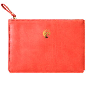 Sky + Miller Strawberry Pouch - Coral