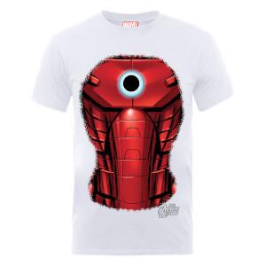 T-Shirt Homme Marvel Avengers Assemble - Torse Iron Man Explosion - Blanc