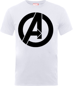 Marvel Avengers Simple Logo T-Shirt - White