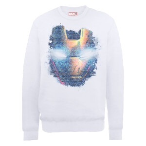 Sweat Homme Marvel Avengers Assemble - Iron Man Tête Abimée - Blanc
