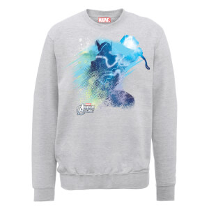 Marvel Avengers Assemble Thor Art Burst Sweatshirt - Grey