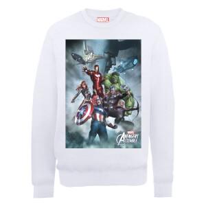 Sweat Homme Marvel Avengers Assemble - Team Montage - Blanc