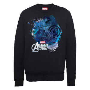 Marvel Avengers Assemble Captain America Montage Sweatshirt - Black