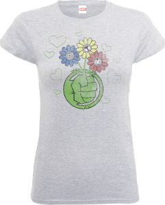 Marvel Avengers Hulk Flower Fist Women's T-Shirt - Grey