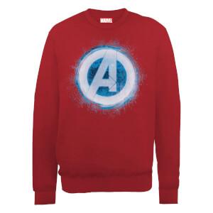 Marvel Avengers Assemble Glowing Logo Sweatshirt - Red