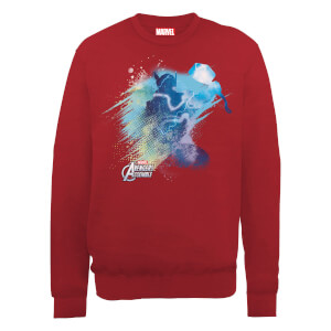 Marvel Avengers Assemble Thor Art Burst Sweatshirt - Red