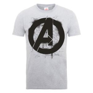 T-Shirt Homme Marvel Avengers Assemble - Croquis Logo - Gris
