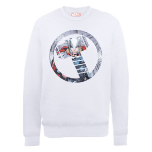 Sweat Homme Marvel Avengers Assemble - Thor Montage - Blanc