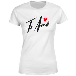 Te Amo Script Women's T-Shirt - White