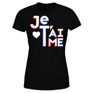 Je T'aime Women's T-Shirt - Black