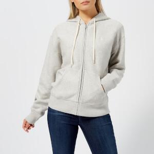 3a68fc91f0a Polo Ralph Lauren Women s Logo Zip Through Hooded Top - Light Sport Heather