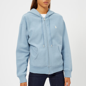Polo Ralph Lauren Women's Logo Zip Through Hooded Top - Channel Blue