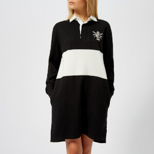 Polo Ralph Lauren Women's Rugby Casual Dress - Polo Black/Deckwash White
