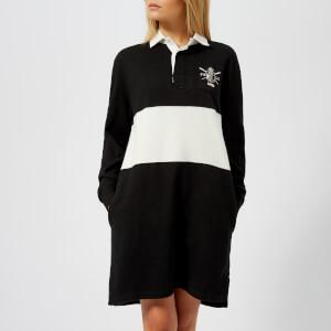 Polo Ralph Lauren Women's Rugby Casual Dress - Polo Black/Deckwash White