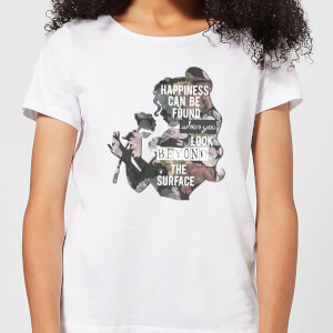Disney Beauty And The Beast Happiness Women's T-Shirt - White