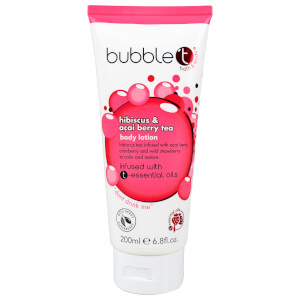 Bubble T lozione per il corpo - tè all'ibisco e bacche di acai (200 ml)