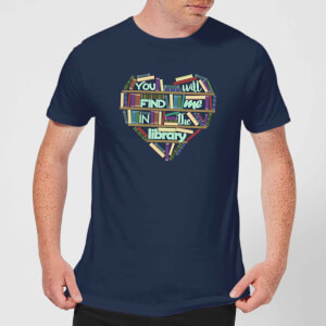 You Will Find Me In The Library T-Shirt - Navy