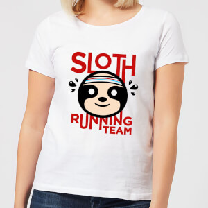 Sloth Running Team Women's T-Shirt - White