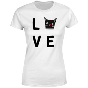 Cat Love Women's T-Shirt - White