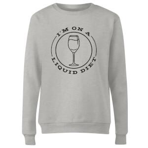 Liquid Diet Wine Women's Sweatshirt - Grey