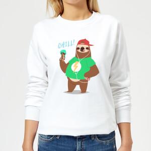 Sloth Chill Women's Sweatshirt - White