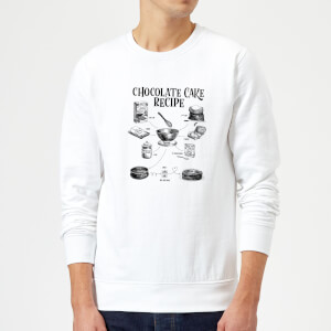 Chocolate Cake Recipe Sweatshirt - White
