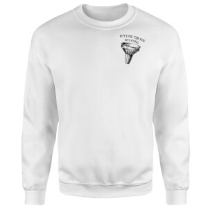Putting Fun Into Funnel Sweatshirt - White