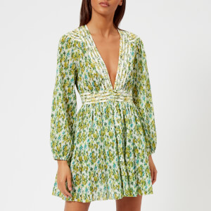 Zimmermann Women's Golden Plisse Mini Dress - Lemonade Acid Floral